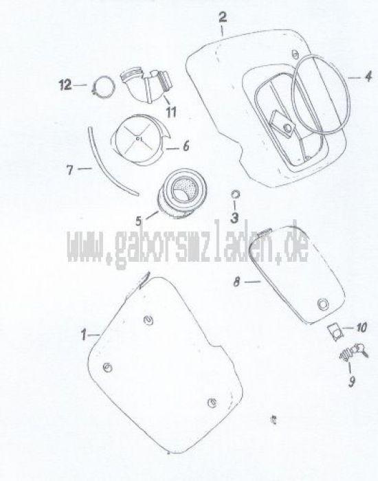 13. Verkleidung, Ansauggeräuschdämpfer, Luftfilter