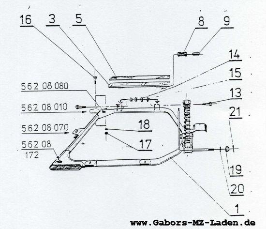 5.04 Seitenwagen - Rahmen