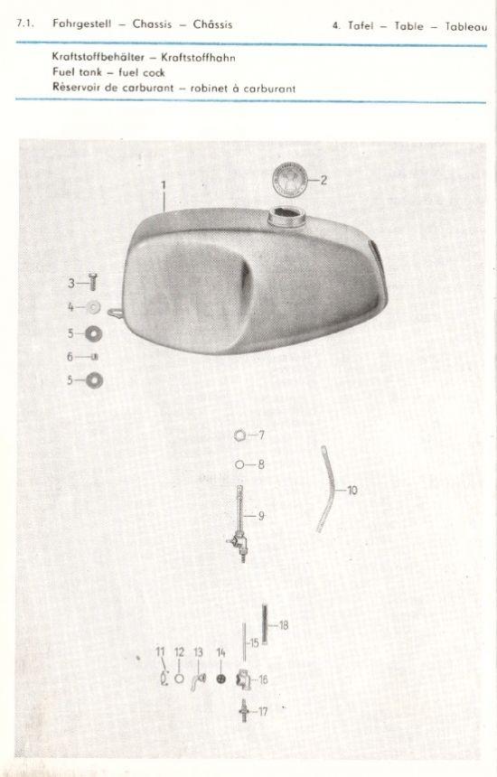 Fahrgestell - Kraftstoffbehälter, Kraftstoffhahn (04.)