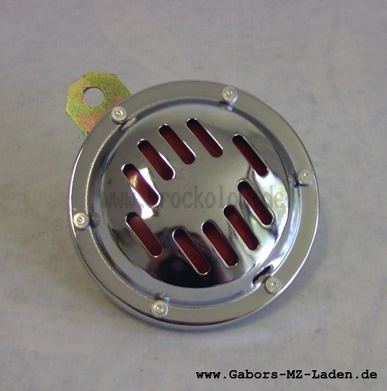 Hupe / Signalhorn 6V mit Chromblende