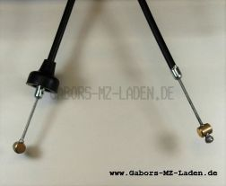Bowdenzug/Seilzug -schwarz- Kupplung flach