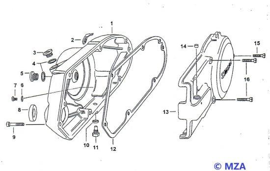 23. Motor und Gehäusedeckel