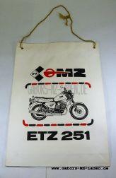 Tragetasche MZ ETZ 251 Papier mit Klappboden Farbdruck