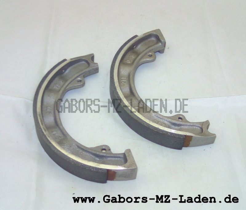Set of brake shoes with friction pads, refurbished, front 160 mm, EMW R35, AWO Touren , replacement