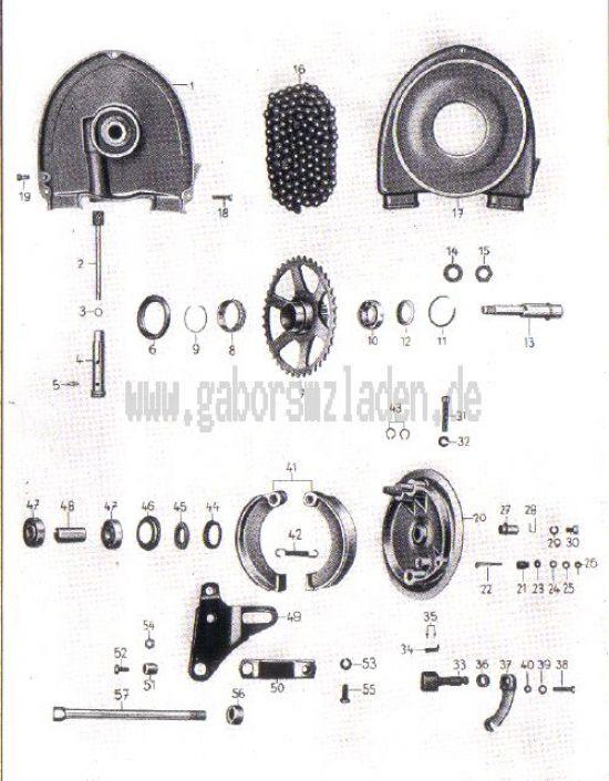 15. Hinterradantrieb, Radnabe hinten