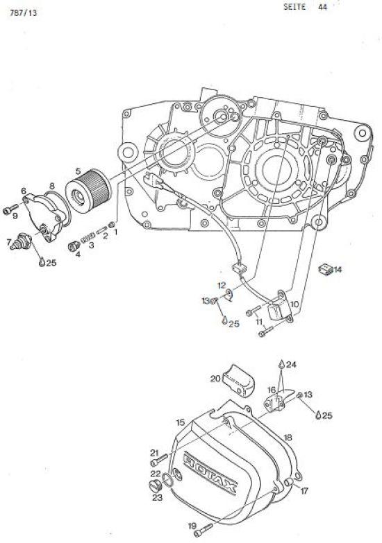 6.45 Motor - Druckhalteventil, Ölfiltereinsatz, Zünderdeckel