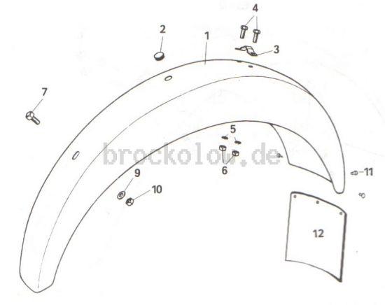 2.16.1 Hinterradkotflügel, alte Ausführung