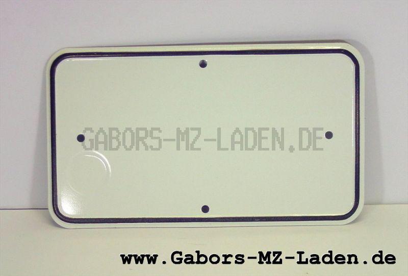 Kennzeichenschild 231x132, Blanko, C TGL15653
