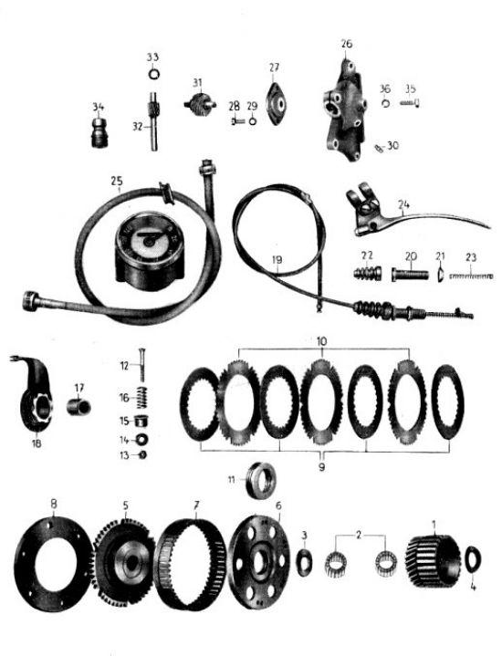 06. Kupplung, Tachometer mit Antrieb
