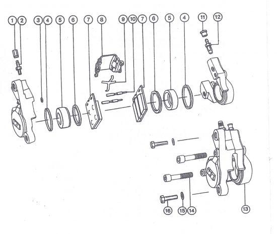 Scheibenbremse - Radbremszylinder