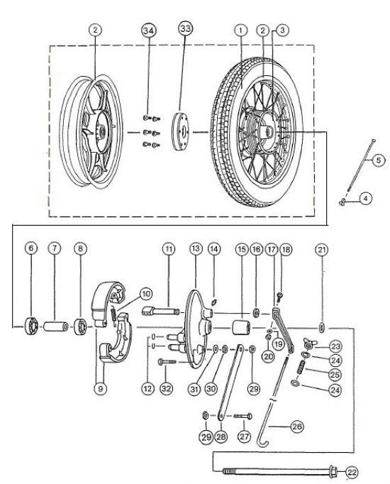 2.11 Fahrgestell - Hinterrad
