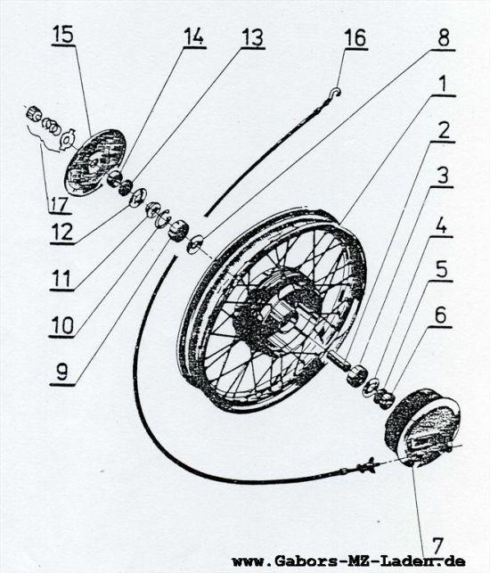 07 Seitenwagen Rad und Bremse