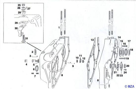 17. Motor und Motorgehäuse