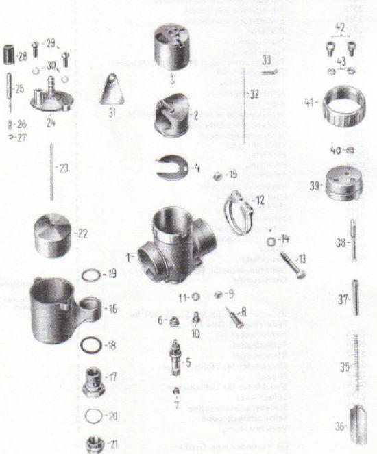 07b. Vergaser (Rundschieber)ES175/1, 250/1, 300
