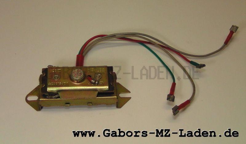 Ladeanlage 8871.6/2 neuer Typ - ersetzt Ladeanlage 8871.6 - für alle S51, S70 Fahrzeuge 6 Volt - ohne Ladespule - Ladung erfolgt direkt über Gleichrichter