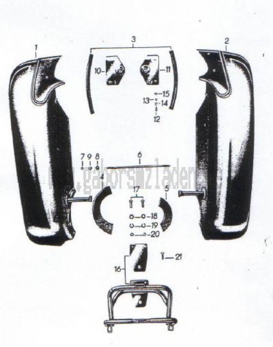 23. Beinschutzbleche, Kofferträger, Seitengepäckträger, Handschaltung