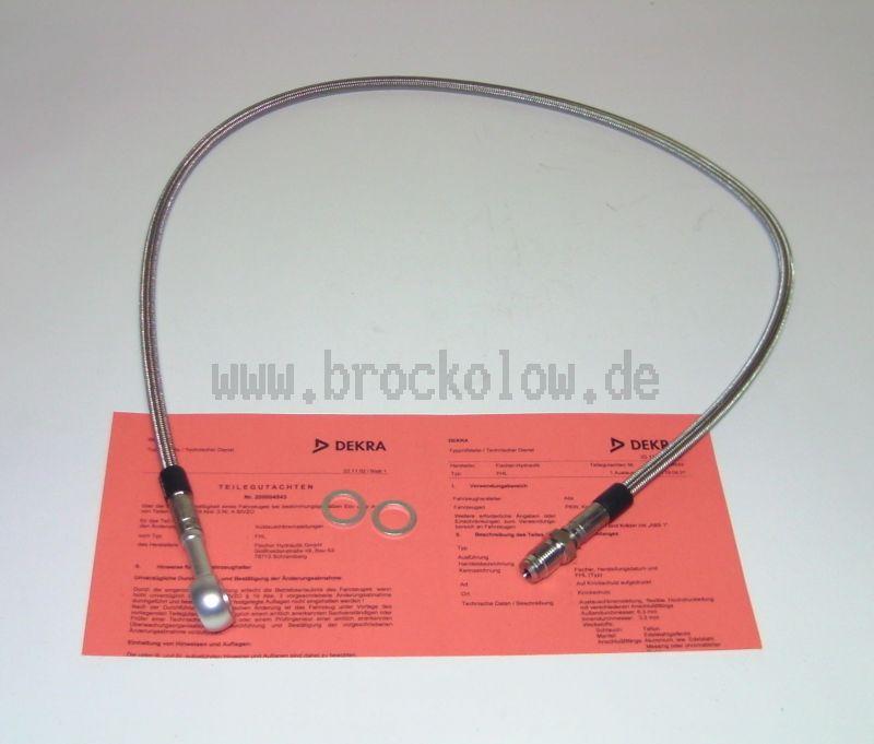 Stahlflexleitung speziell angefertigt f. Magura oder Grimeca HBZ  795mm