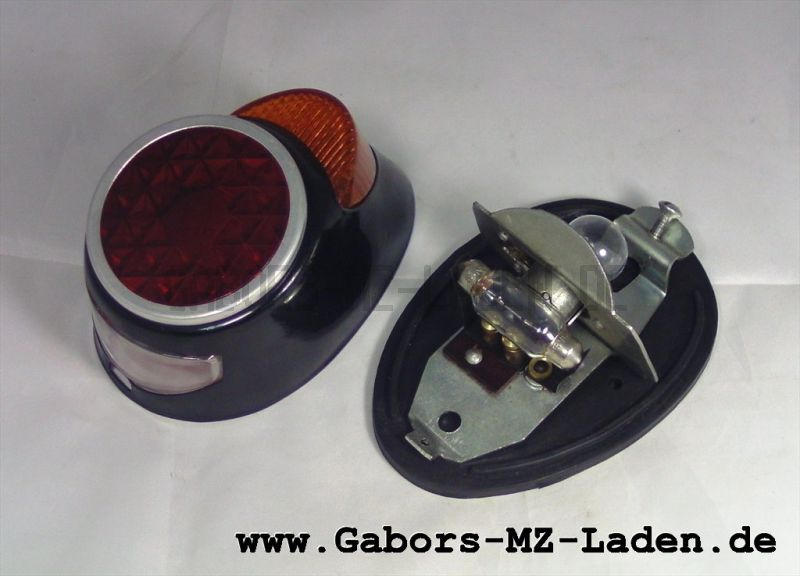 combined stop-tail-number plate lamp (rear light), with plate black
