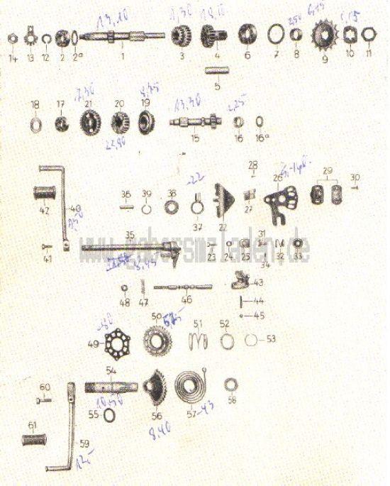 03. Getriebe (Zahnräder, Wellen, Schaltung, Kickstarter)