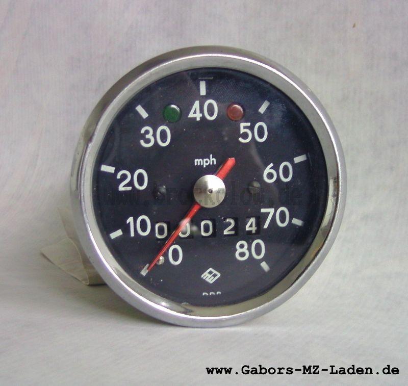 Rundtachometer vollständig, Eichung in Meilen 3.0220/10
