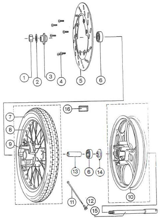 2.08 Fahrgestell - Vorderrad