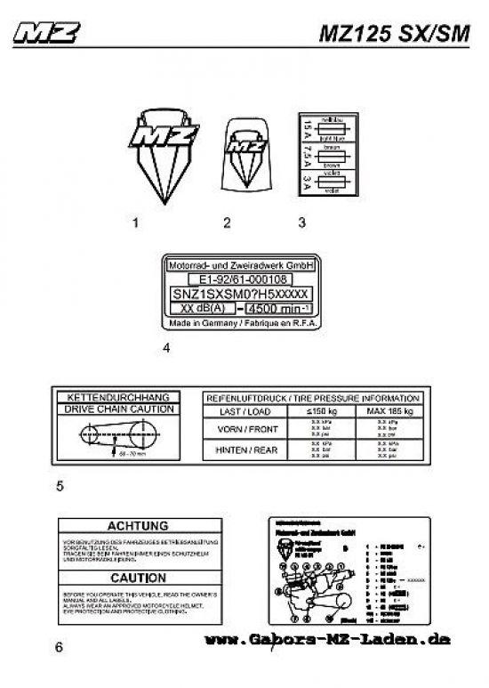 F30/1. Embleme und Klebeschilder