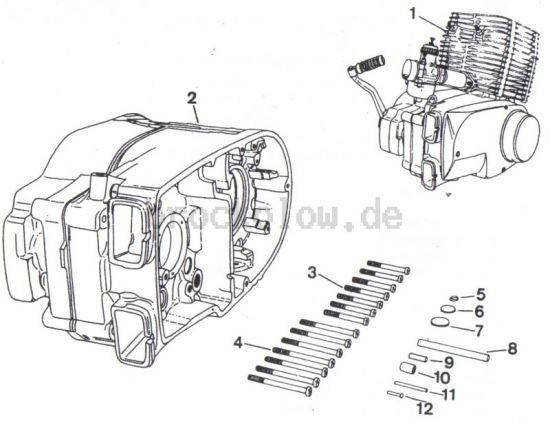 4.01. Ersatzmotor, Ersatzteilgehäuse