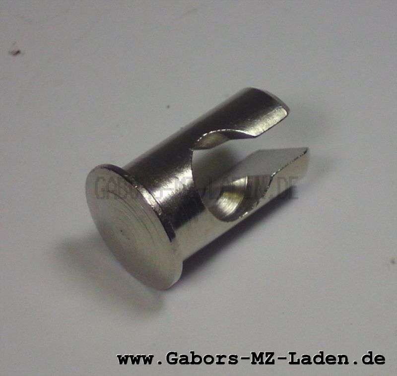 Nippelaufnahme f. Bowdenzüge Simson -  Brems- und Kupplungshebel aus Aluminium (z.B. SR2 usw)