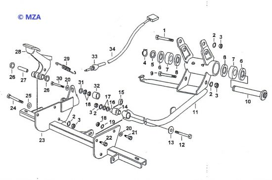 02. Motorlager und Querträger