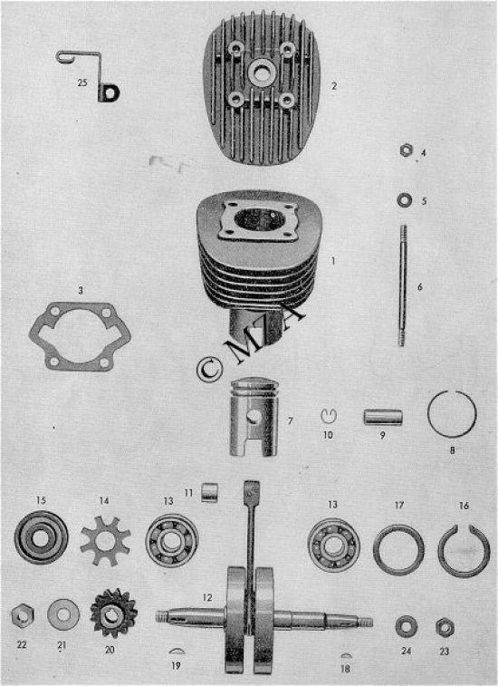 14. Zylinder, Kurbelwelle, Kolben