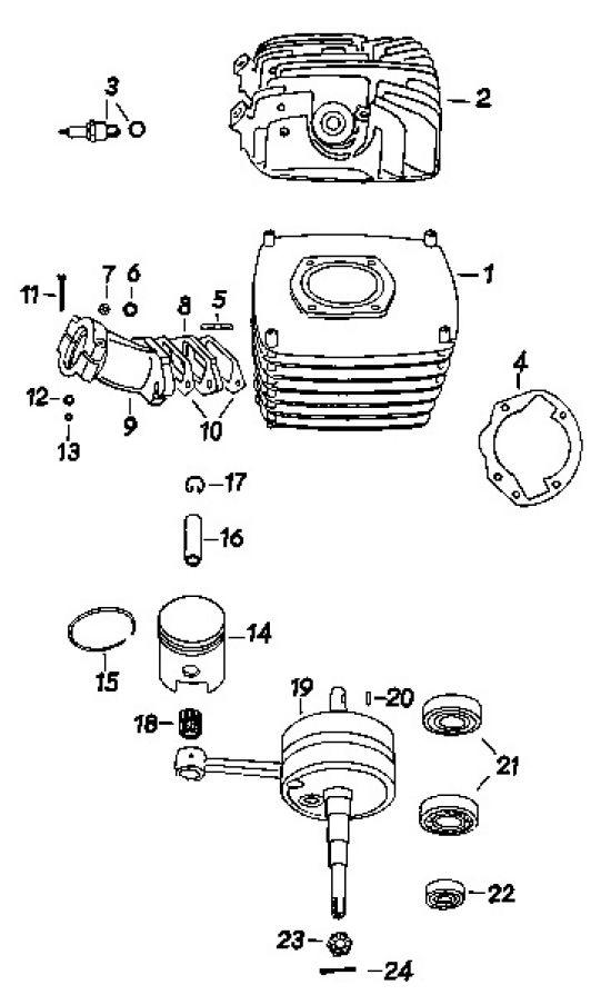 18 Zylinder, Kolben, Kurbelwelle