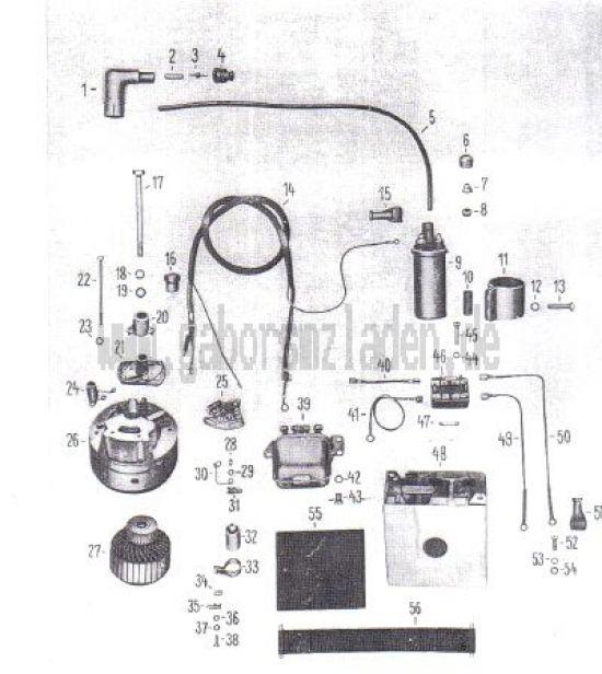 13 Lichtmaschine, Batterie, Zündspule, Regler