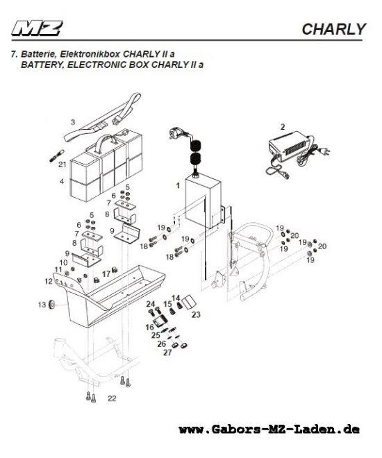 07. Batterie, Elektronikbox - Charly II A