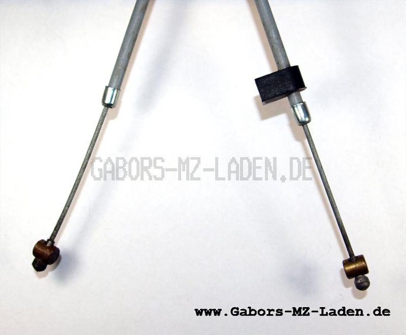 Bowdenzug/Seilzug - grau - Kupplung  IWL Troll  TR150