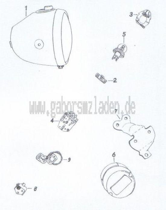 17. Scheinwerfer, Brems-Schluß-Kennzeichenleuchte