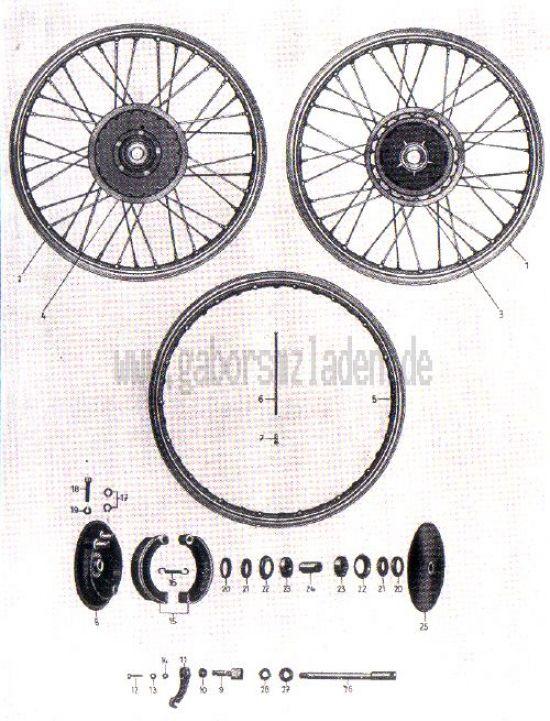 14. Räder, Radkörper, Vorderradnabe