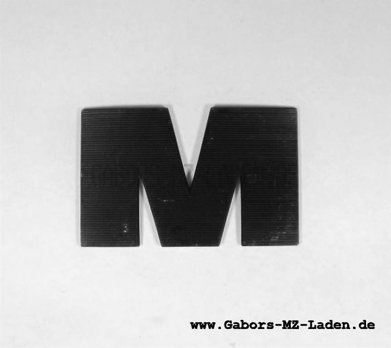 """Buchstabe """"M"""" rechts, schwarz"""