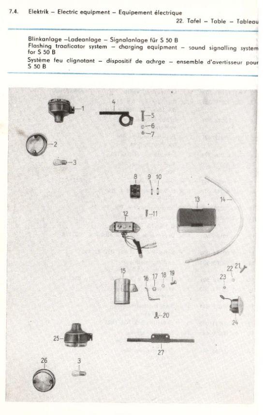 Elektrik - Blinkanlage, Signalanlage, Ladeanlage (22.)