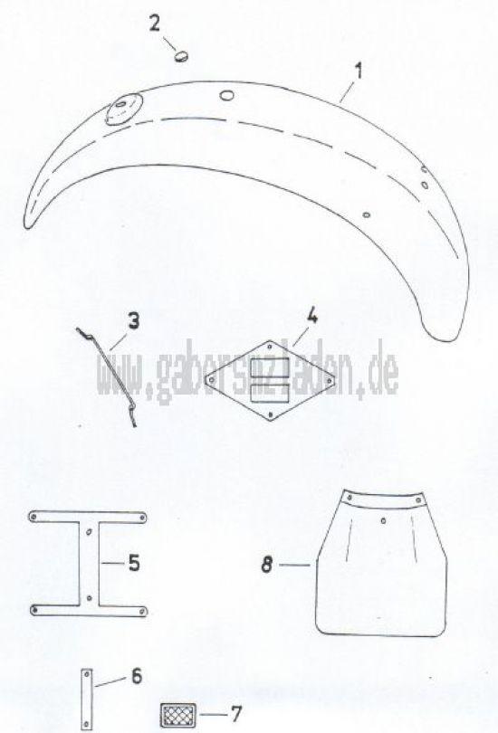 11 Hinterradkotflügel