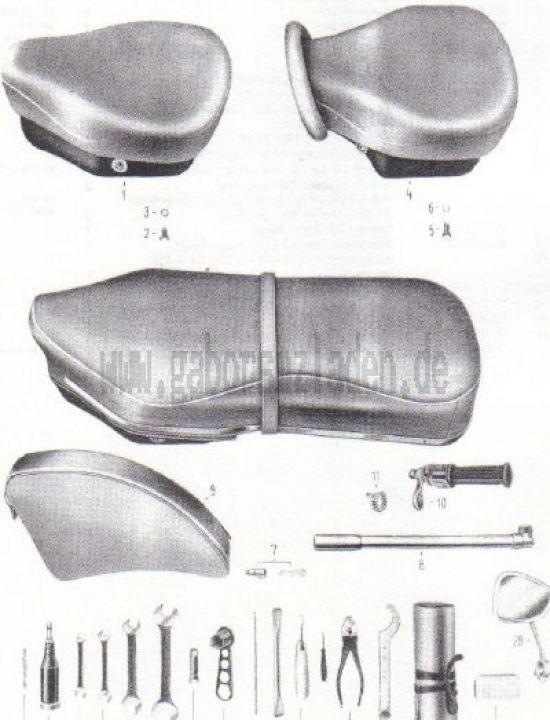 20. Sättel, Werkzeug, Zubehör
