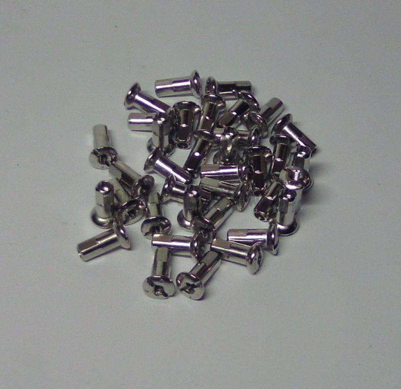 WWS Speichennippel M4, Edelstahl-Optik