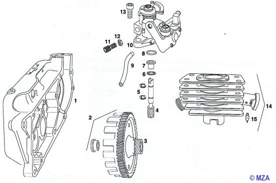 28. Ölpumpe - Zylinder