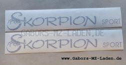 """Klebefolie """"Skorpion Sport"""", schwarz  (Set)"""