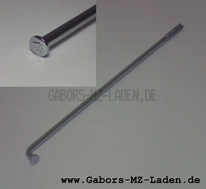 Speiche 143,5 mm CHROM für Simson VERSTÄRKT von WWS (deutsche Qualität)