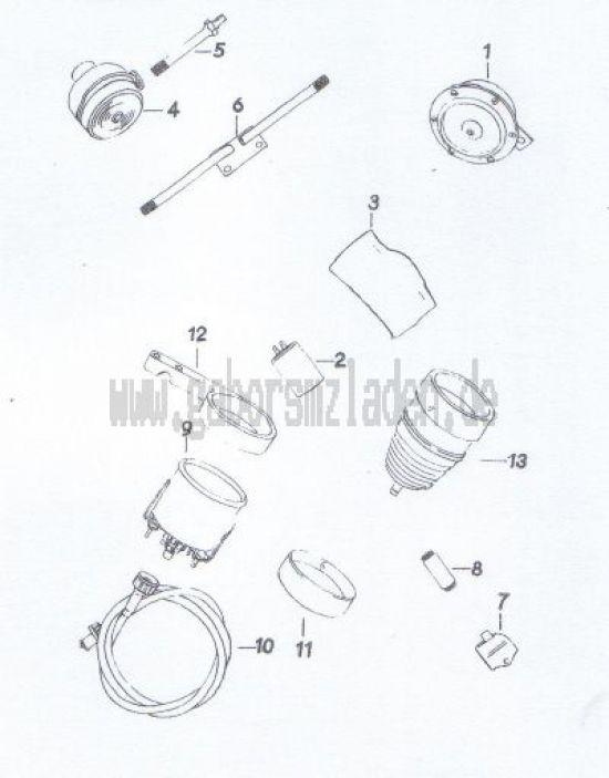 18. Signalhorn, Blinker, Tachometer, Drehzahlmesser