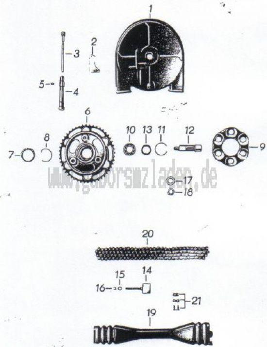 08. Hinterrad- und Tachoantrieb