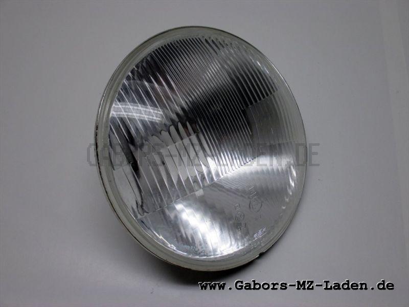 Reflektor mit Streuscheibe rechtsasymmetrisch, flacher Rand TS 125,150,250/1