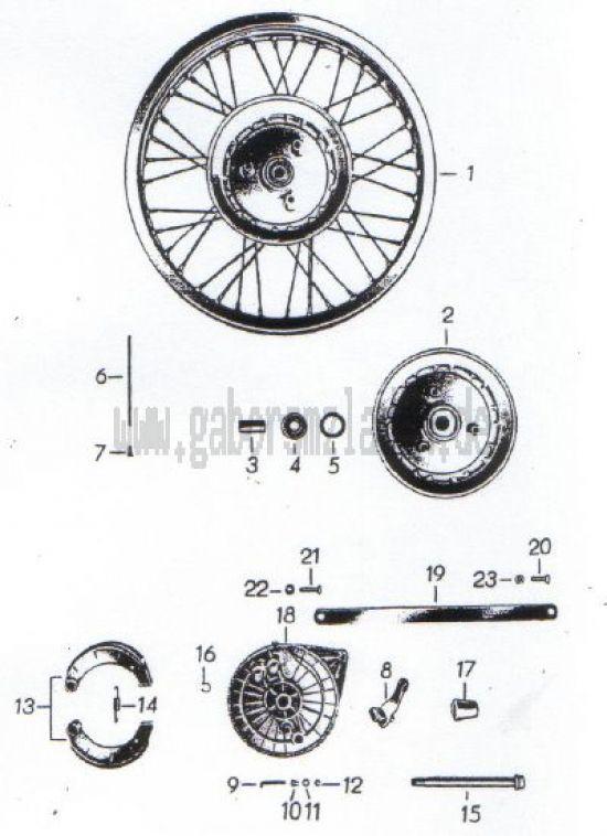 07. Hinterrad, Radkörper, Bremse