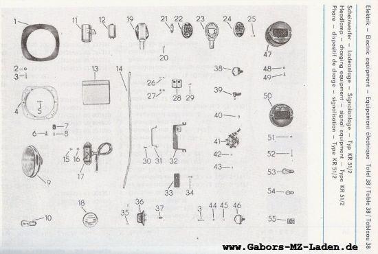 Elektrik - Scheinwerfer, Ladeanlage, Signalanlage (38)