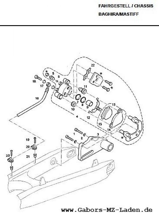 F15 Bremssattel hinten